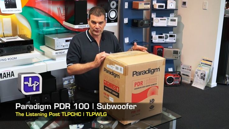 Paradigm PDR100 Subwoofer, Unboxing, Review | The Listening Post | TLPCH...