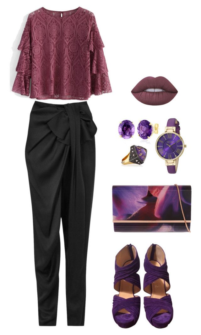 """оап"" by leeloo1307 on Polyvore featuring Lanvin, Chicwish, Christian Louboutin, Ted Baker, Sevan Biçakçi, SO & CO, Belk & Co. и Lime Crime"