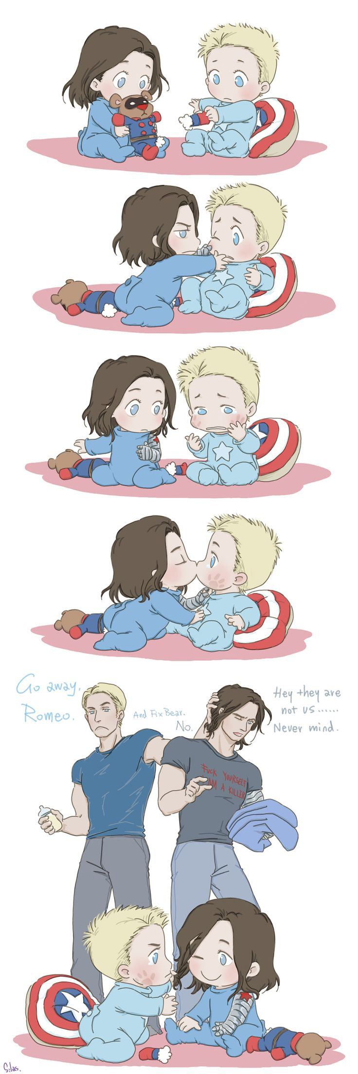 Baby Problem: Baby Steve and Bucky