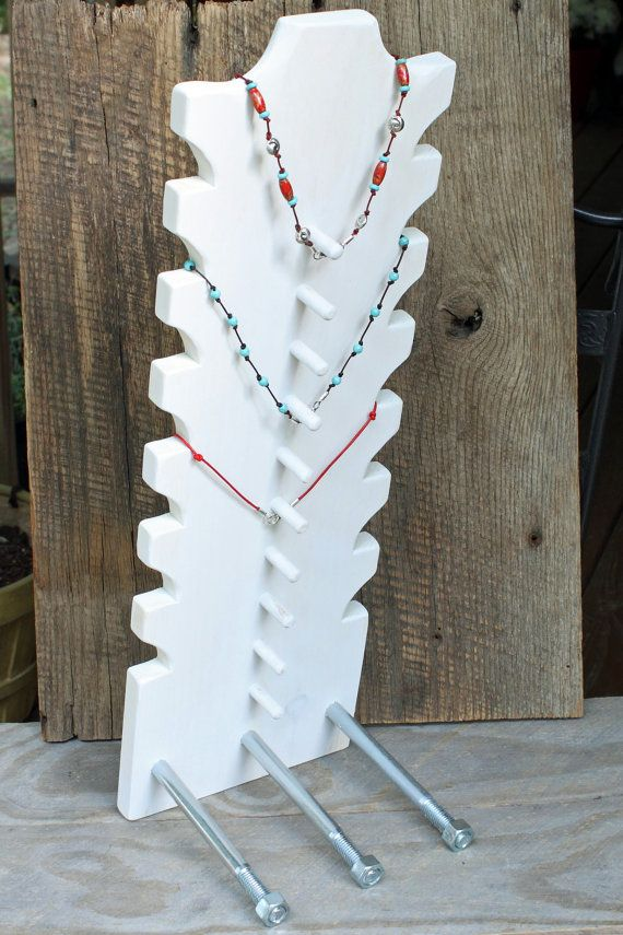 Necklace Display 22 x 7.25 wide Jewelry holder by JimHarmonDesigns