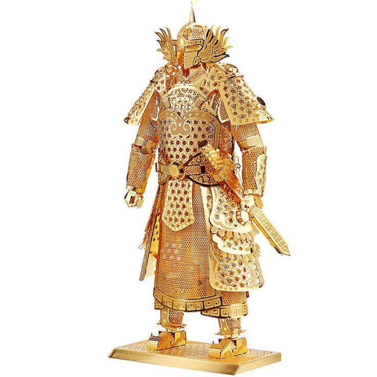 1: 150  Mini Figures DIY 3D Model Puzzle General Samurai Warriors Armor - GOLD  #Unbranded