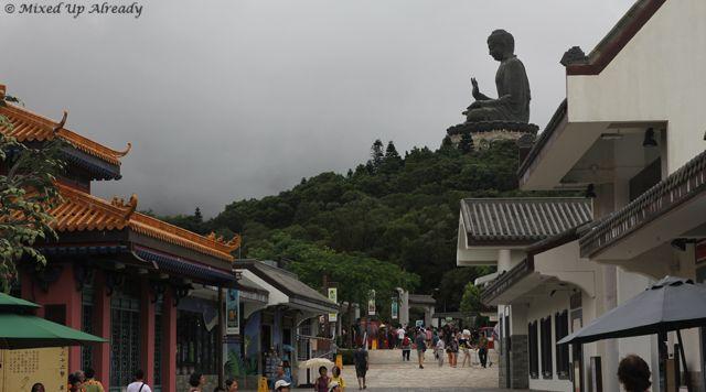 Hong Kong trip - Lantau Island - Ngong Ping Village - Tian Tan Buddha from afar