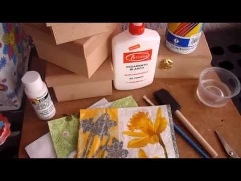 ▶ como decorar con Decoupage (servilletas decoradas) - YouTube