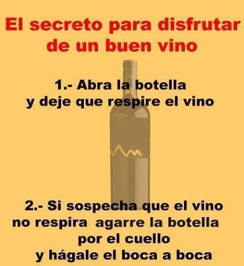 El secreto para disfrutar de un buen vino…