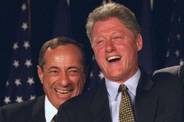 L: former NY governor, Mario Cuomo. R: former pres. Bill Clinto