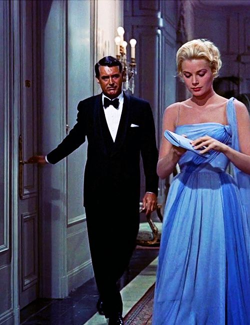 """Cary Grant and Grace Kelly in """"To Catch a Thief"""" (Hitchcock)"""
