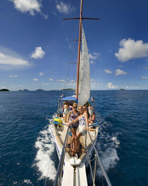 Enjoying the Seaspray Sailing Adventure