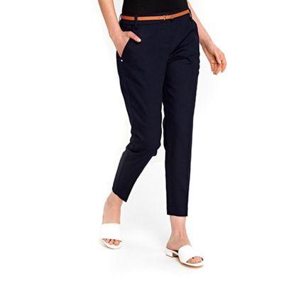 Wallis Petite navy cigarette trousers | Debenhams
