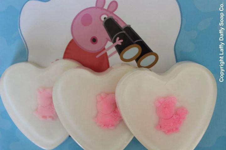 Peppa Pig heart soaps