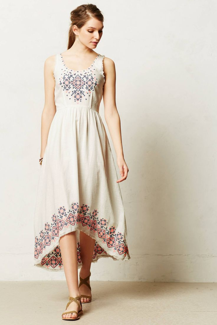 Cissie Embroidered Dress - anthropologie.com