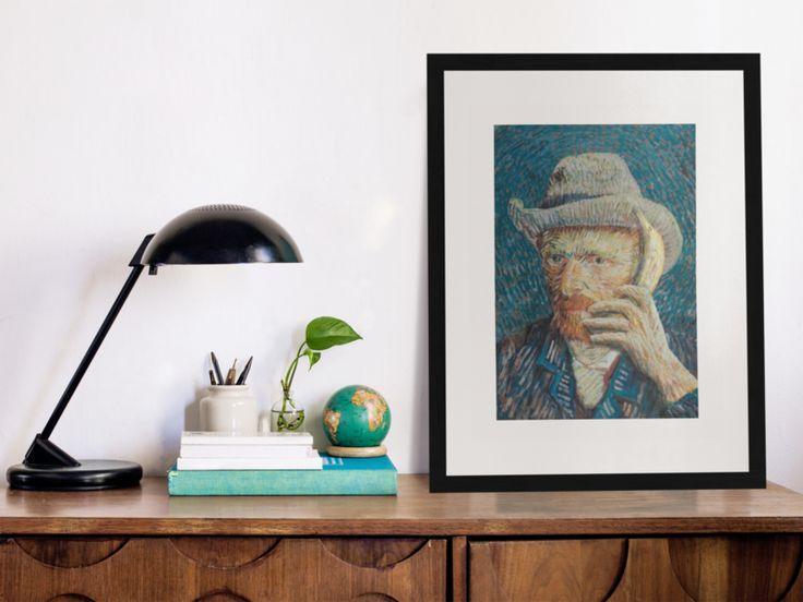 Poster Vincent & Lisa #vincentvangogh #monalisa #art #parody #poster