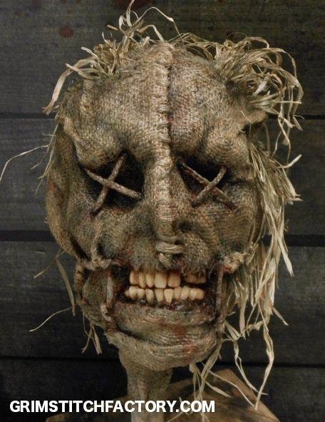 shank scarecrow prop totem head scary halloween
