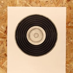 'Sample' dry point etched record #printmaking #leedsart