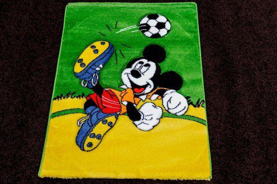 Mickey zöld sárga focis gyerek szőnyeg 125x200 cm