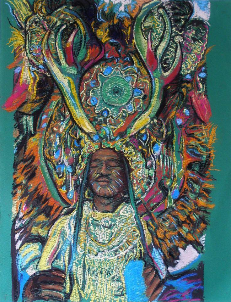 Caribbean dancer, pastel on paper, 2004, by Sanneke Griepink