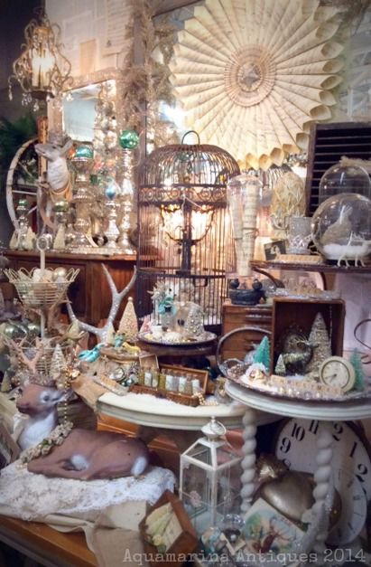 My back table vignette at Sweet Salvage on 7th Ave, Phoenix, AZ. Aquamarina Antiques