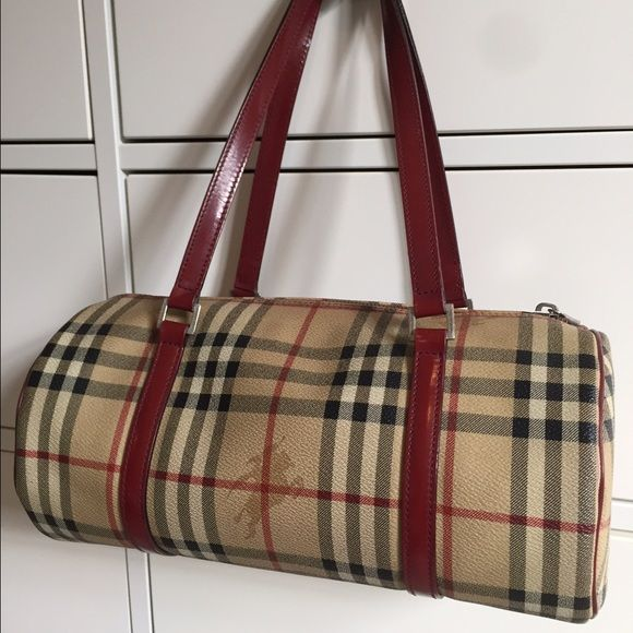 Hpvintage Burberry Classic Haymarket Check Bag 100 Authentic Vintage Papillon Handbag In A Beloved Fun Co