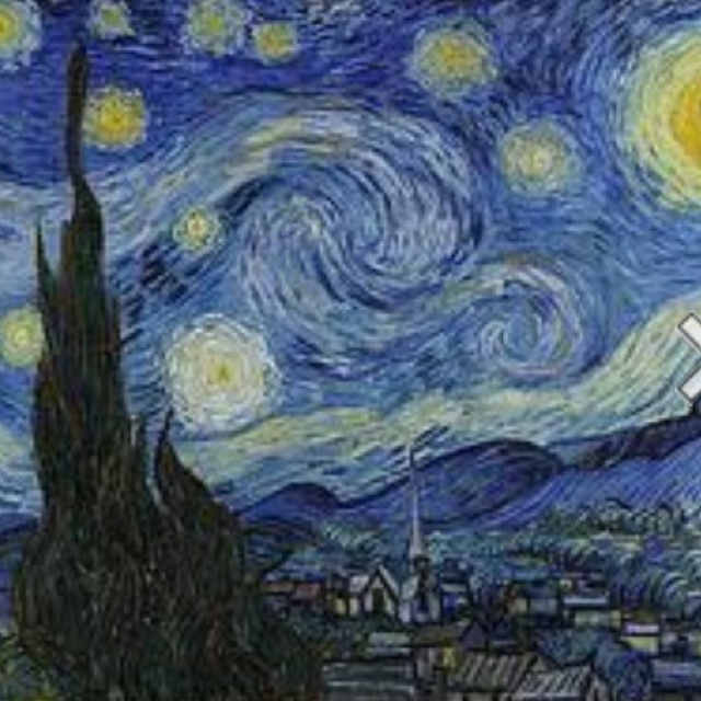 A Starry Night by Vincent Van Gogh