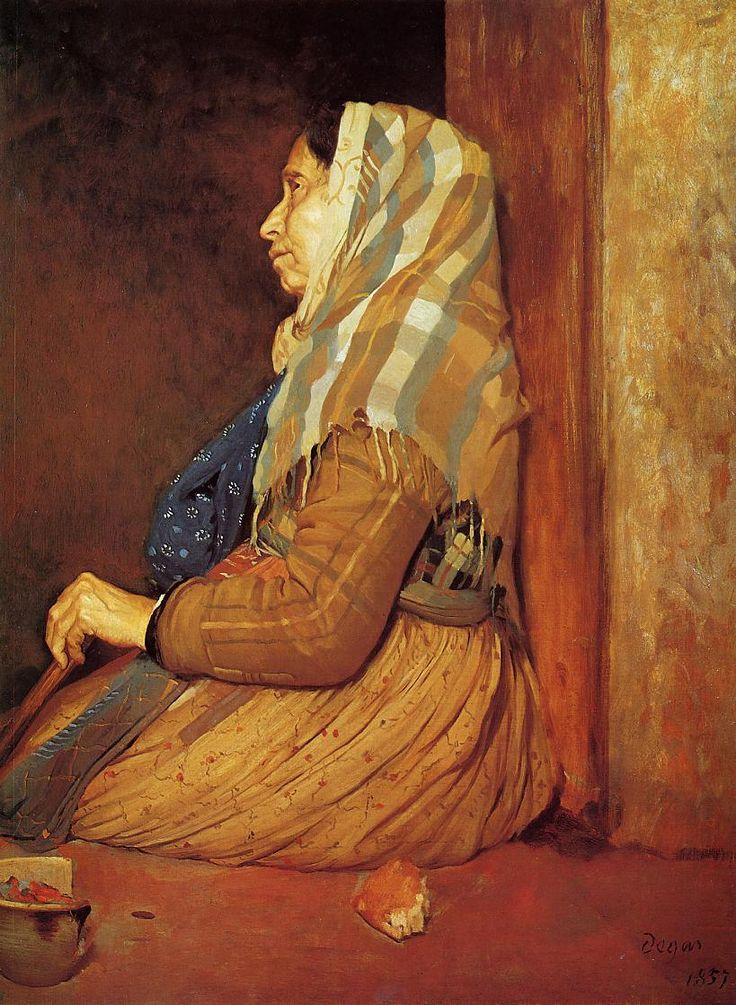 A Roman Beggar Woman, 1857 Edgar Degas - by style - Realism