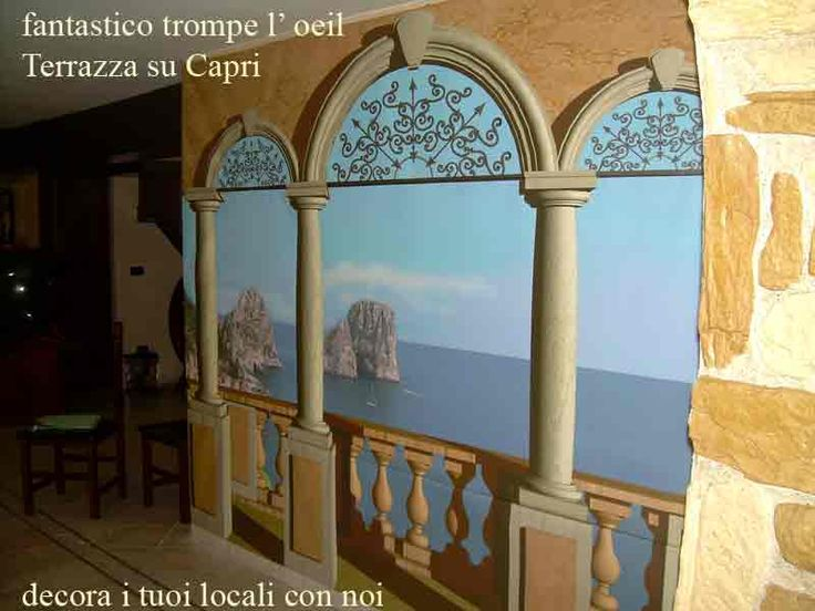 12 best trompe l 39 oeil images on pinterest wall murals for Deco trompe l oeil mural