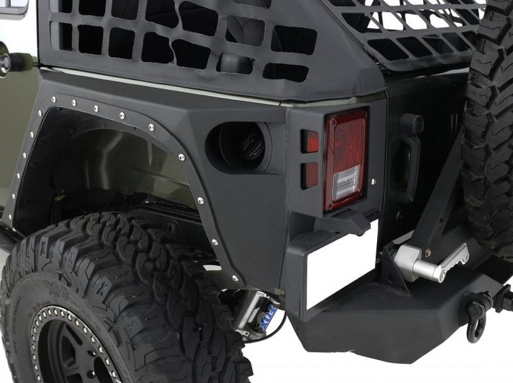 Smittybilt XRC Armor Rear Corner Guards for 07-13 Jeep® Wrangler JK 2 Door