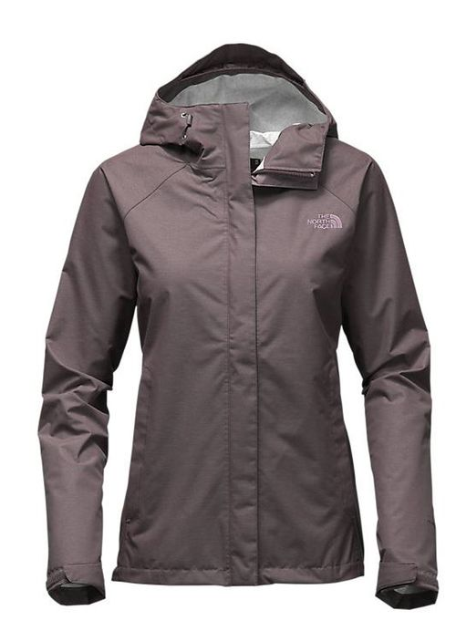 Women's Venture Jacket in Rabbit Grey Heather by The North Face is a waterproof, windproof, breathable outer layer protects you from rain year round that features a seam sealed construction, fully adj