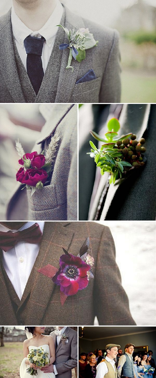 Quirky to Classic Buttonhole Inspiration ~ UK Wedding Blog ~ Whimsical Wonderland Weddings