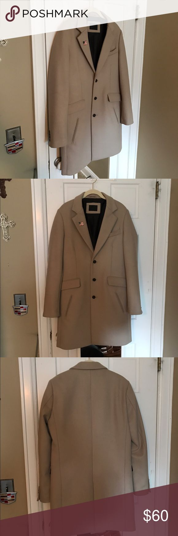 Asos stone topcoat Asos stone topcoat worn only a handful of times. Size small but can fit a medium, minor small mark under the pin, can post pic if you would like. ASOS Jackets & Coats Pea Coats