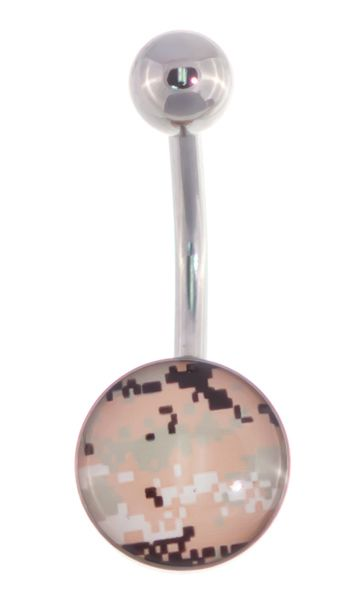 For all the Camo lovers, check out Pixel Camouflage Belly Button Ring - 14g! http://www.body-jewelry-shop.com/Pixel-Camouflage-Belly-Button-Ring-14g-Camo-Navel-Body-Jewelry.html