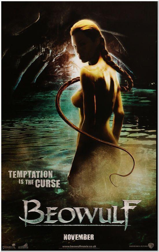 BEOWULF -2007- Original English movie poster - 24 x 38.5 - ANGELINA JOLIE - body