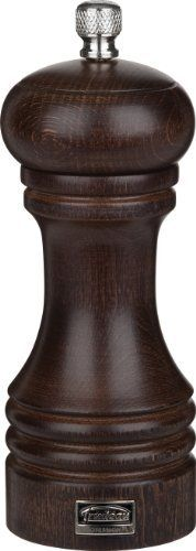 Trudeau Professional Beechwood Espresso Wood Finish Pepper Mill, 6-Inch by Trudeau. $24.99. Ultra-resistant and razor sharp carbon steel grinder for peppercorns. All materials meet professional food industry standards. 6-inch pepper mill for professional or home use. Made from durable beechwood with an attractive espresso wood finish. Lifetime warranty. Trudeau's line of professional pepper and salt mills takes grinding to the next level with the most efficient g...
