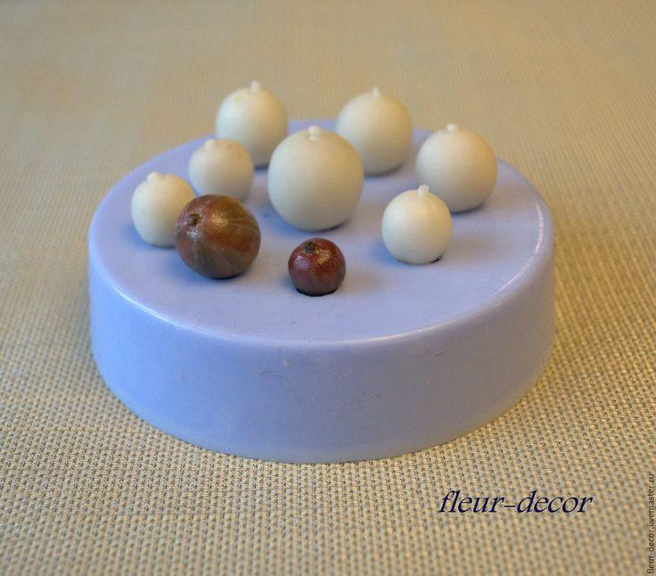 Купить Силиконовый молд .Крыжовник - голубой, силиконовая форма, силиконовый молд, ягоды, керамическая флори