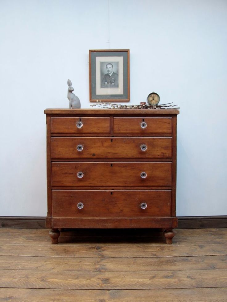 Country Rustic Antique Chest of Drawers Old Victorian Pine Bedroom Storage chest #country #ChestofDrawers