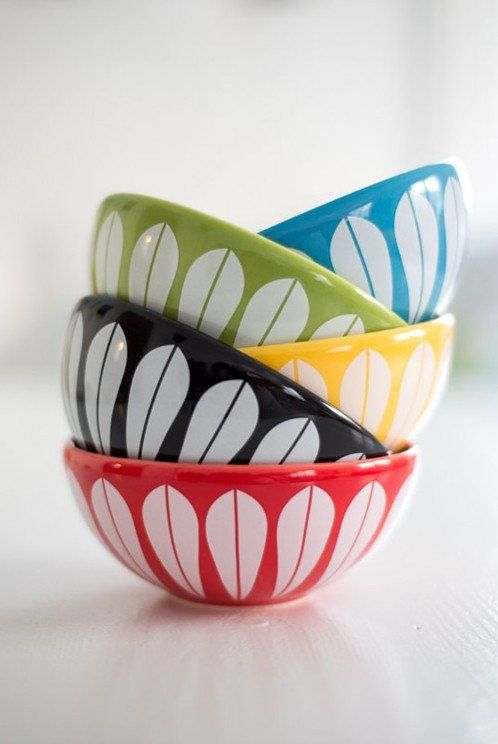 modernshop.com  Ceramics made to look like CathrineHolm pieces! Available in Canada from the ModernShop.ca    Arne Clausen Ceramic Bowls Collection by Lucie Kaas (Catherine Holm)
