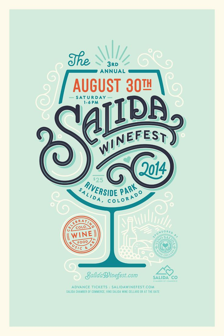 Salida Winefest 2014 Poster by Jared Jacob