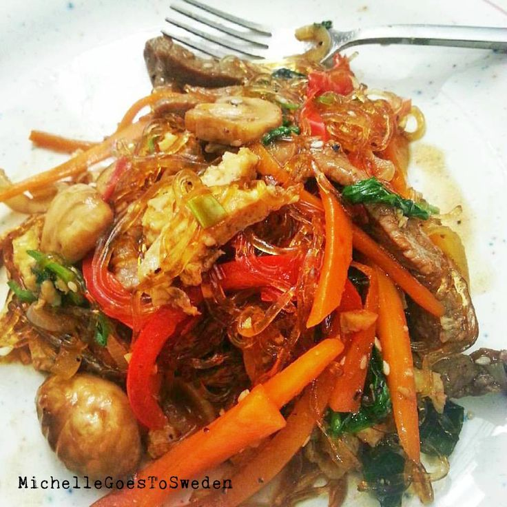 How I cook Japchae 🍜 #koreanfood #japchae #myfavoritejapchae #homecooking