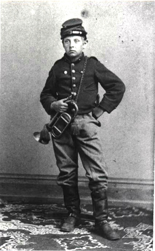 "Gustav Schurmann Twelve-year-old who served in the Civil War as bugler and orderly to Generals Philip Kearny and Daniel Sickles. He served with the ""Mozart Regiment,"" which was made up of New York men. He also met and befriended Tad Lincoln. #civilwar #newyork #history"