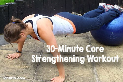How to Strengthen Your Core in Just 30 Minutes | JanetTV