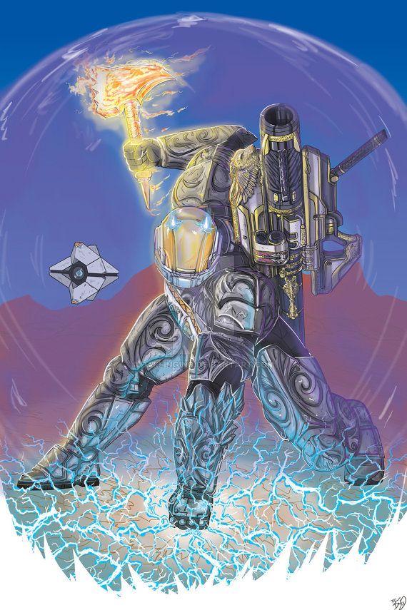 Destiny: Titan print by DarlingInc on Etsy