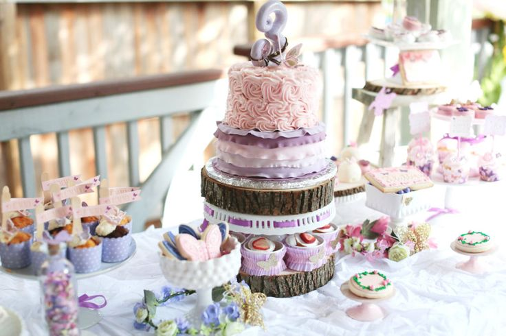 Pink and Purple Woodland-Inspired Birthday Party: Shower Ideas, Kids Parties, Woodland Birthday, Butterflies Birthday, Woodland Butterflies, Birthday Parties Ideas, Butterflies Parties, Parties Ideas Kids, Birthday Ideas