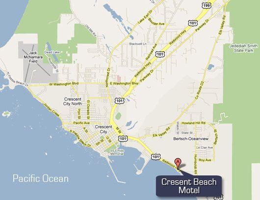 Beachfront Lodging in Crescent City California