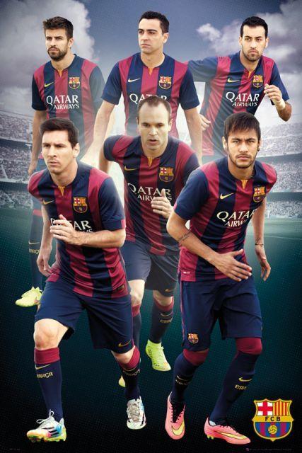 FC Barcelona Zawodnicy 14/15 - plakat - 61x91,5 cm  Gdzie kupić? www.eplakaty.pl