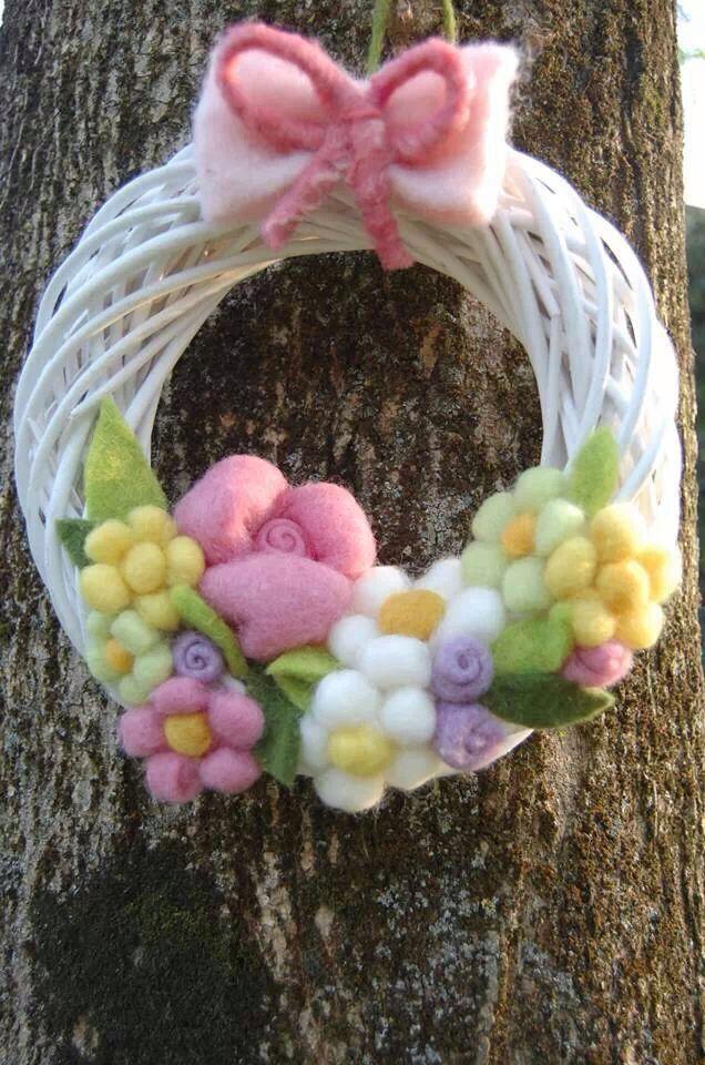 Ghirlanda lana cardata primavera