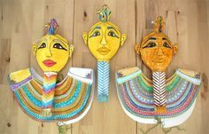 FREE Printable Egyptian mummy masks and necklaces kids can actually wear.
