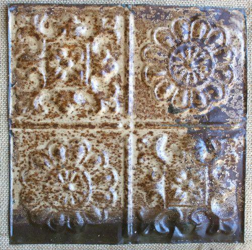 12 Quot Antique Tin Ceiling Tile Beautiful Rust Patina