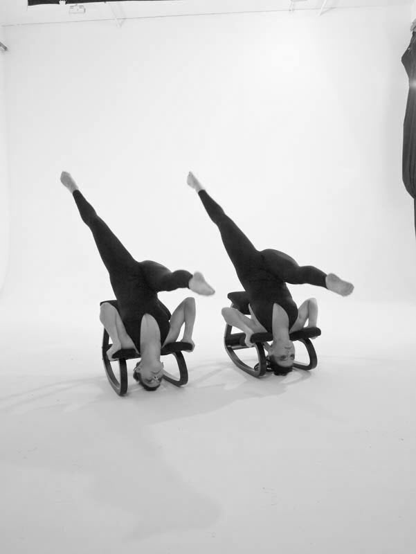 "Studio shooting Varier promo Chair Dance - original choreography highlighting ""movement"" - the unique quality of Varier seating."