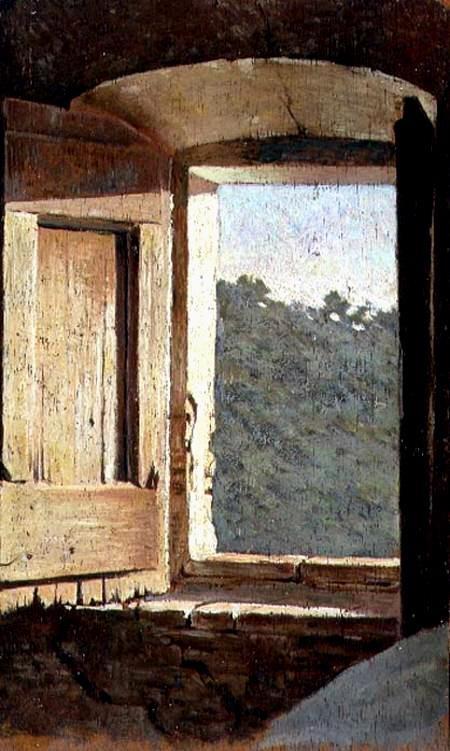 Giuseppe Abbati, La Finestra, Firenze, Palazzo Pitti. A window with a view.