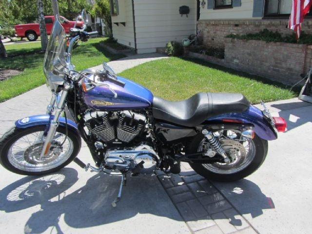 2009 Harley-Davidson SPORTSTER 1200 Competition , blue/purple, 4,300 miles for sale in woodland, CA