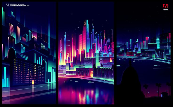 Cities and Lights – Illustrations by Romain Trystram   HeyDesign