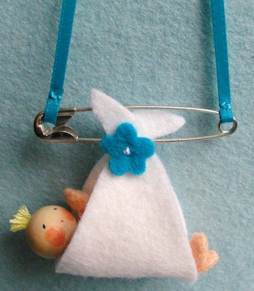 So cute for a shower ~ No instructions, but easy to replicate.